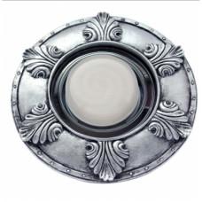 """Ecola накладка широкая гипсовая """"листья"""" для встр. свет-ка GX53 H4 черненое серебро 19х195"""