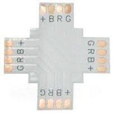 Ecola LED strip connector гибкая соед. плата X для зажимного разъема 4-х конт. 10 mm уп. 5 шт.