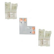 Ecola LED strip connector комплект L гибкая соед. плата + 2 зажимных разъема 2-х конт. 10 mm