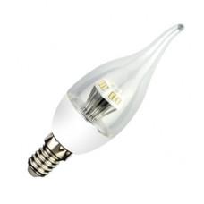 Ecola candle LED 4,2W 220V E14 2700K прозрачная свеча на ветру искристая пирамида 118x37