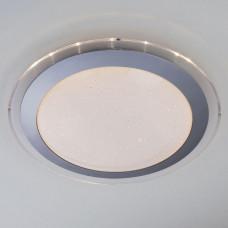 Потолочный светодиодный светильник с пультом ДУ Eurosvet Fusion 40002/1 LED матовое серебро