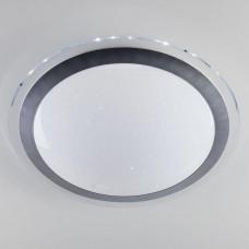 Потолочный светодиодный светильник с пультом ДУ Eurosvet Fusion 40003/1 LED матовое серебро