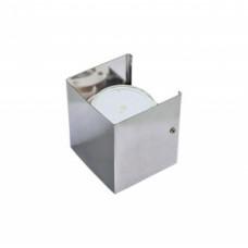 Ecola GX53-N51 светильник настенный бра прямоугольный хром 1* GX53 100х100х90 (1 из цв. уп. по 2)