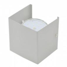 Ecola GX53-N51 светильник настенный бра прямоугольный серый 1* GX53 100х100х90 (1 из цв. уп. по 2)
