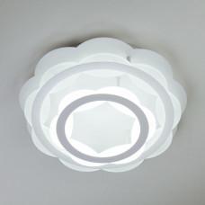 Потолочный светодиодный светильник с пультом ДУ Eurosvet Corona 90076/2 белый