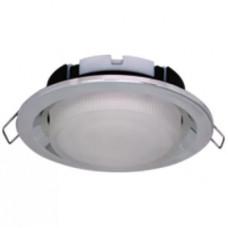Ecola GX53 FT3225 светильник встраиваемый глубокий легкий серебро 27x109
