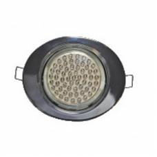 Ecola GX53 FT3238 светильник встр. без рефл. Эллипс хром 41x126x106 (к+)