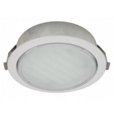 Ecola GX53 DL Светильник Встраиваемый (для твер. пов. и мебели) Белый 28х93