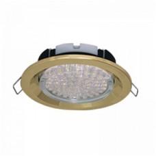 Ecola GX53 FT3225 светильник встраиваемый глубокий легкий золото 27x109