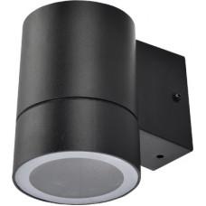 Ecola GX53 LED 8003A светильник накладной IP65 прозрачный Цилиндр металл. 1*GX53 Черный 114x140x90
