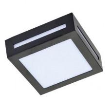 Ecola GX53 LED 3082W светильник накладной IP65 матовый Квадрат металл. 1*GX53 Черный 136x136x55
