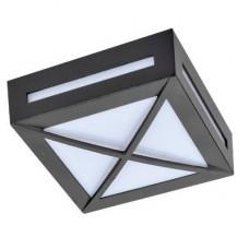 Ecola GX53 LED 3083W светильник накладной IP65 матовый Квадрат с решеткой металл. 1*GX53 Черный 136x136x55