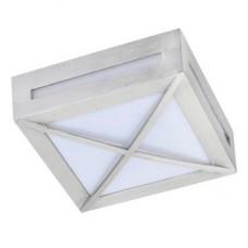 Ecola GX53 LED 3083W светильник накладной IP65 матовый Квадрат с решеткой металл. 1*GX53 Cатин-хром 136x136x55